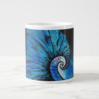 Blue Natulius Large Coffee Mug