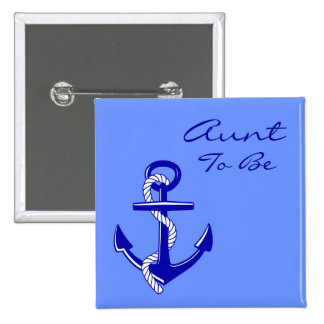 Blue Nautical Aunt To Be Anchor Pin