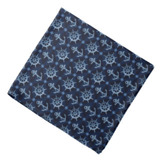Blue Nautical Pattern Bandana