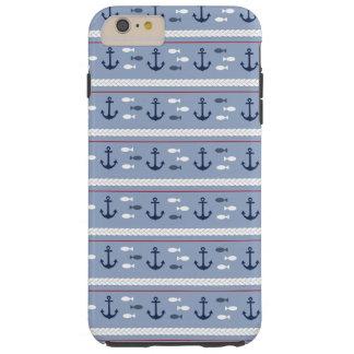Blue Nautical Summer Tough iPhone 6 Plus Case