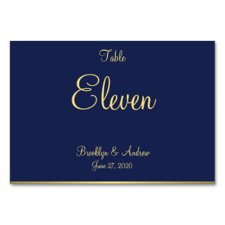 Blue Nautical Wedding Place Cards Table Cards