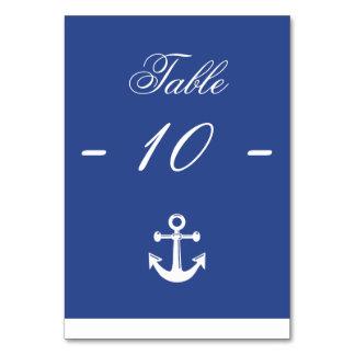 Blue Nautical Wedding Table Cards