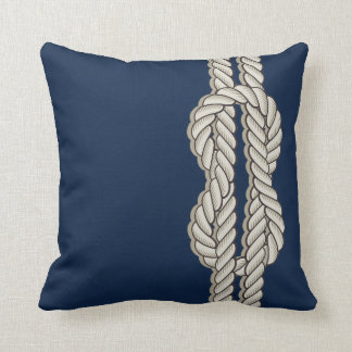 Blue Nautical with Ship's Rope Cushion