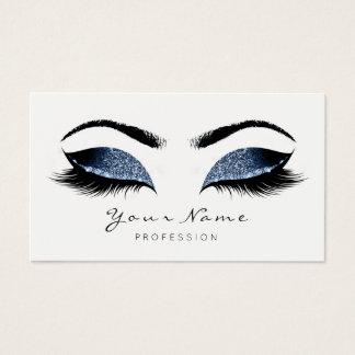 Blue Navy Makeup Artist Lashes Beauty Studio Business Card
