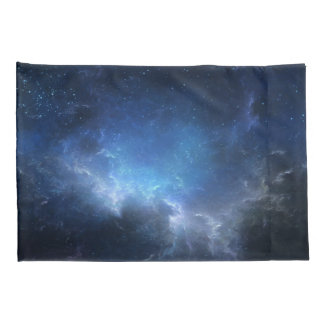 Blue Nebula, Galaxy Pillow Cases