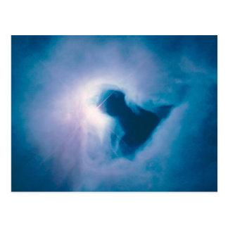 Blue nebula sky postcards