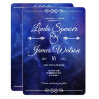 Blue Nebula Wedding Invitation