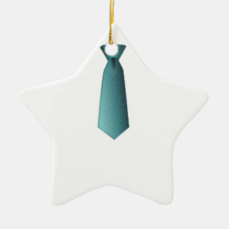 Blue Necktie Ceramic Ornament