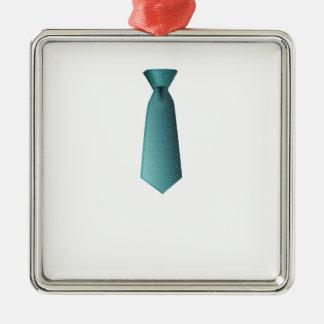 Blue Necktie Metal Ornament