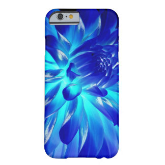 Blue Neon Flower Barely There iPhone 6 Case