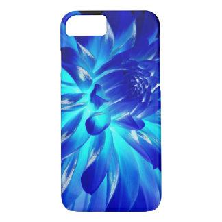 Blue Neon Flower iPhone 7 Case