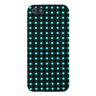 Blue Neon Lights Polka Dots Pattern Cover For iPhone 5/5S