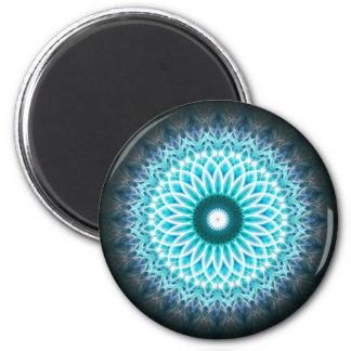 Blue Neon Mandala Magnet