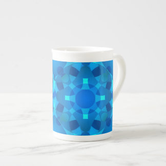 Blue Neon Mosaic Nail art Tea Cup
