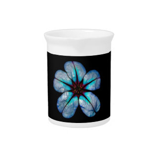 Blue Neon Wildflower Pitcher