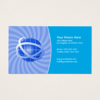 Blue Network Business Card