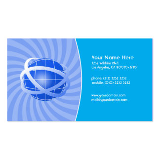 Blue Network Business Card