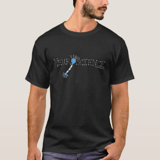 Blue Neuron Neuroscience with White Outlines T-Shirt