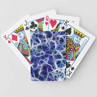 Blue Neuron Pattern Bicycle Playing Cards