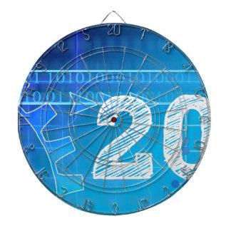 Blue New-Years-Day #2 Dart Board
