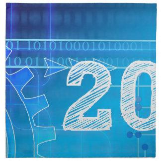 Blue New-Years-Day #2 Napkin