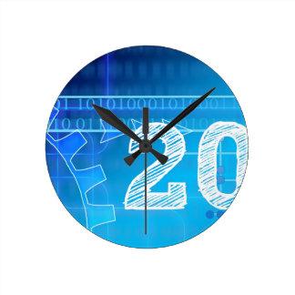 Blue New-Years-Day #2 Round Clock