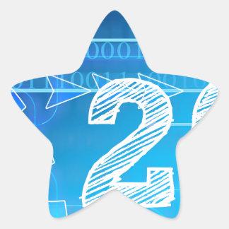 Blue New-Years-Day #2 Star Sticker