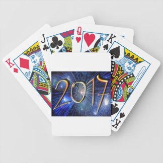 Blue New-Years-Day #3 Bicycle Playing Cards