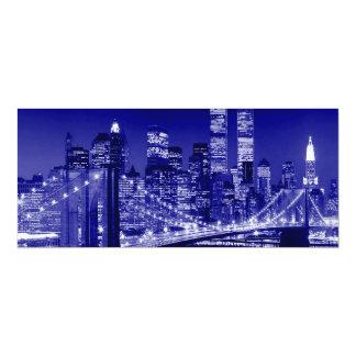 Blue New York City 10 Cm X 24 Cm Invitation Card