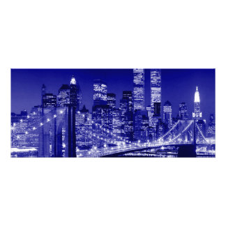 Blue New York City Personalized Invitations