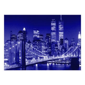 Blue New York City Invitation