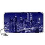 Blue New York City Night Speaker