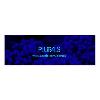 Blue Night Pack Of Skinny Business Cards