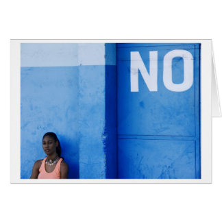 blue no more card