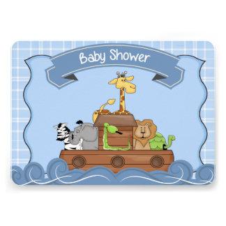 Blue Noah s Ark Baby Shower Invitation Custom Invites