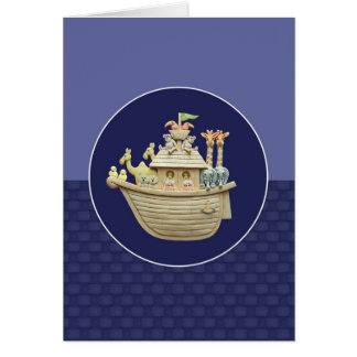 Blue Noah s Ark Greeting Card