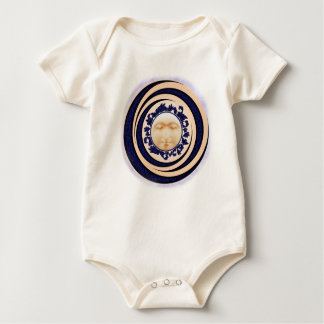 Blue Nouveau Full Moon Infant Baby Bodysuit