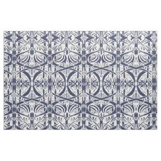 Blue Nouveau Pattern Fabric