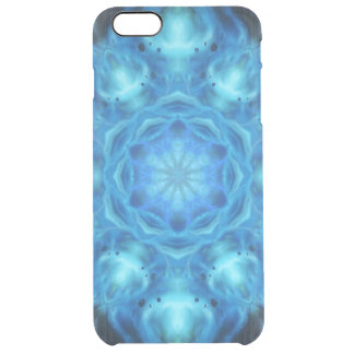 Blue Nova Mandala Clear iPhone 6 Plus Case
