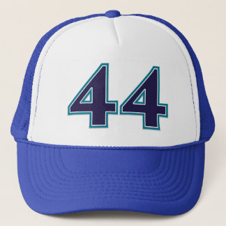 Blue Number 44 Trucker Hat
