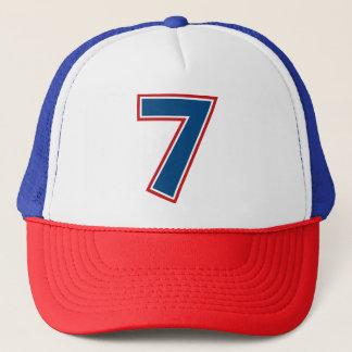 Blue Number 7 Trucker Hat