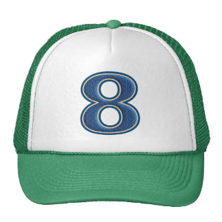 Blue Number 8 Cap
