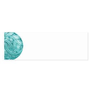 BLUE NUTCRACKER SCROLL DECORATIVE DIGITAL ART BUTT PACK OF SKINNY BUSINESS CARDS