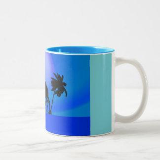 Blue Oasis Two-Tone Mug