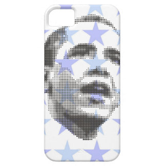 BLUE OBAMA ON STARS iPhone 5 COVER