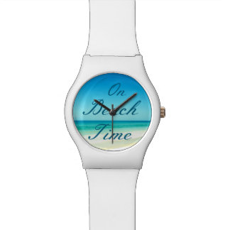 Blue Ocean and Sky On Beach Time Watch