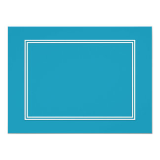 Blue Ocean BlueDouble White Shadowed Border 17 Cm X 22 Cm Invitation Card