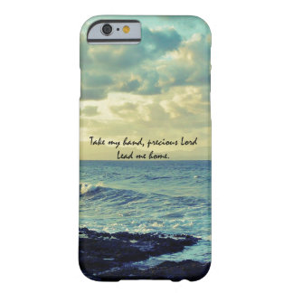 Blue Ocean Coast with Christian Hymn Lyric Barely There iPhone 6 Case