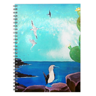 Blue Ocean Flying Birds Painting Notebooks