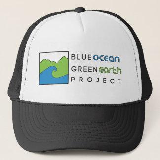 Blue Ocean Green Earth Project Black Trucker Hat